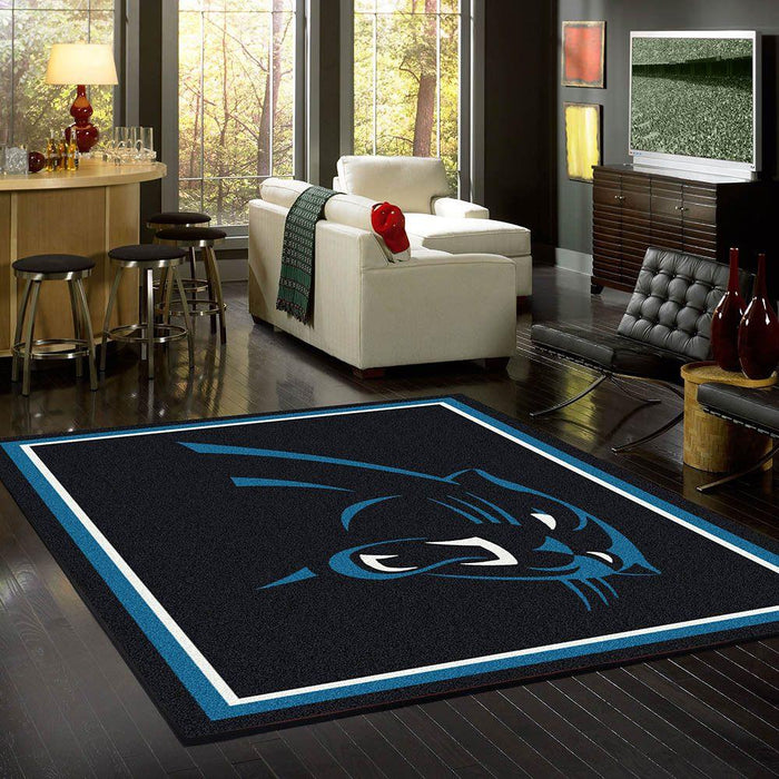Fan Cave Rugs:Carolina Panthers Rug Team Spirit