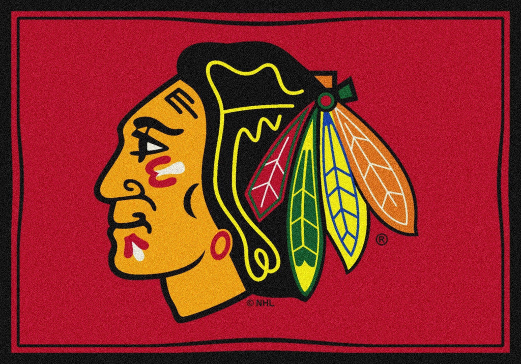 Fan Cave Rugs:Chicago Blackhawks Rug Team Spirit