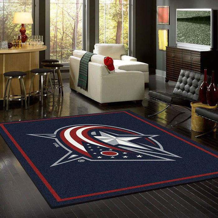 Fan Cave Rugs:Columbus Bluejackets Rug Team Spirit