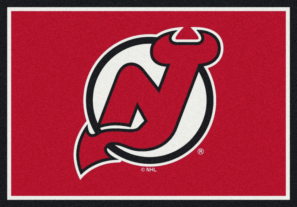 New Jersey Devils Rug Team Spirit - Fan Cave Rugs