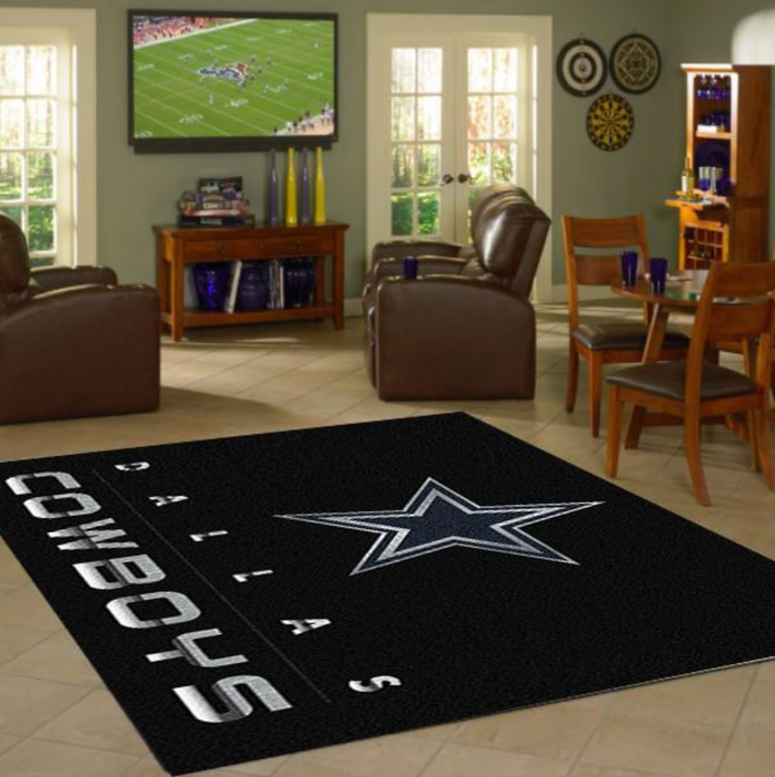 Dallas Cowboys Rug Chrome