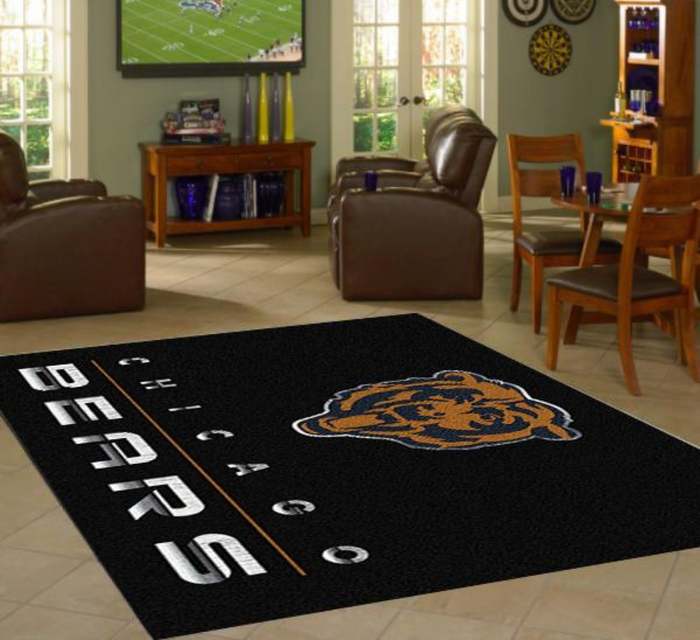 Chicago Bears Rug Chrome