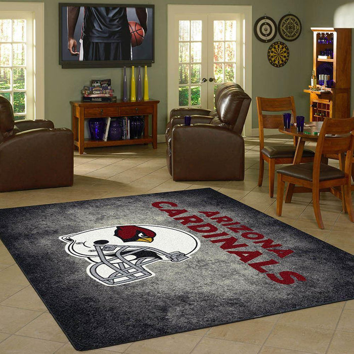 Arizona Cardinals Rug Team Distressed - Fan Cave Rugs