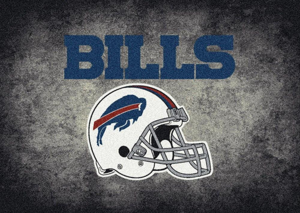 Fan Cave Rugs:Buffalo Bills Rug Team Distressed