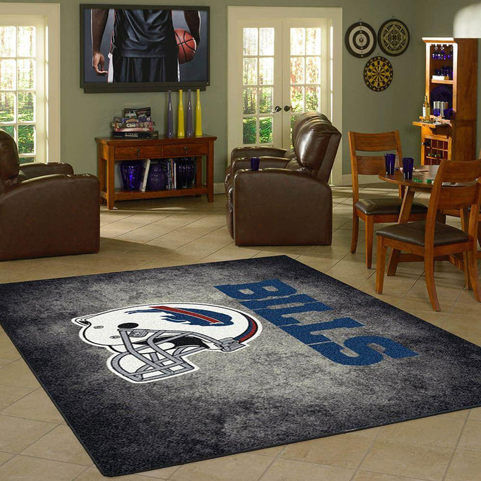 Buffalo Bills Rug Team Distressed - Fan Cave Rugs
