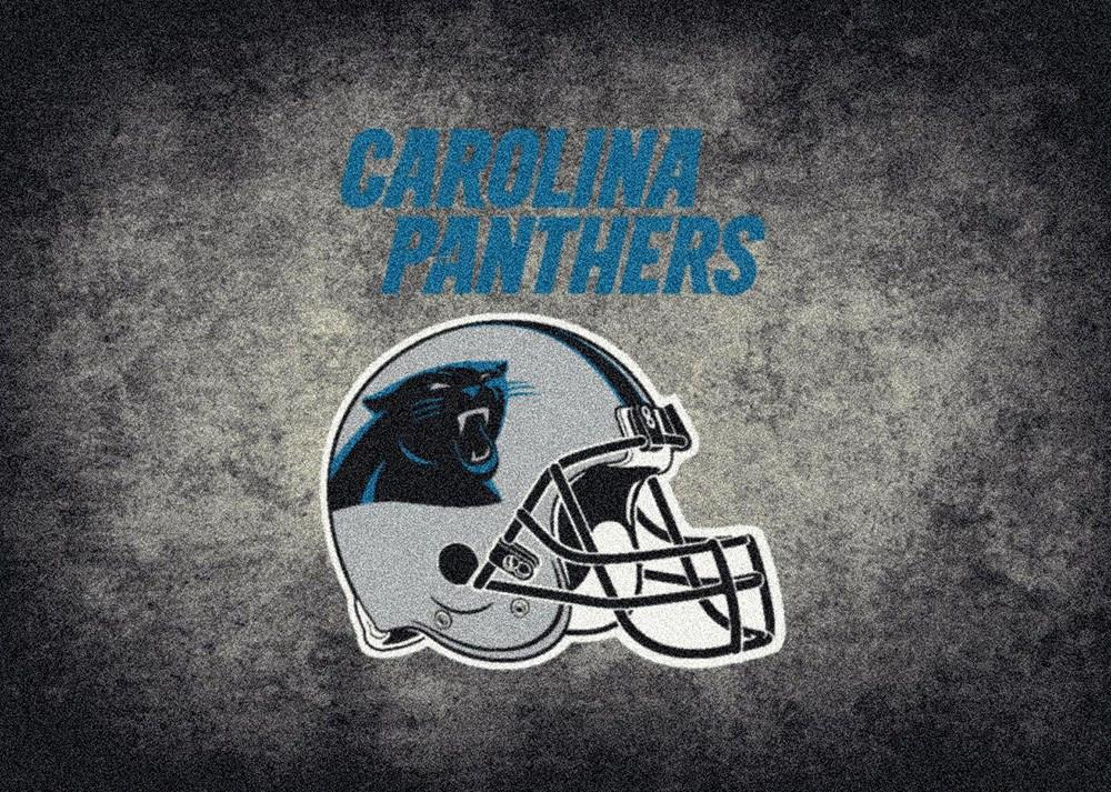 Fan Cave Rugs:Carolina Panthers Rug Team Distressed