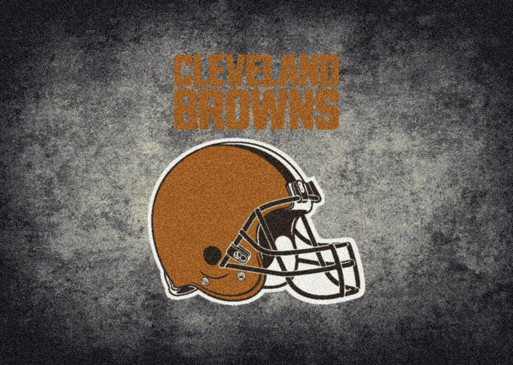 Fan Cave Rugs:Cleveland Browns Rug Team Distressed