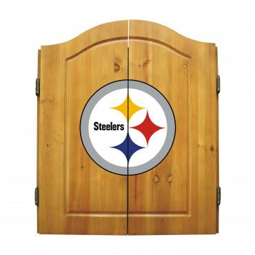 PITTSBURGH STEELERS DART CABINET From Fan Cave Rugs