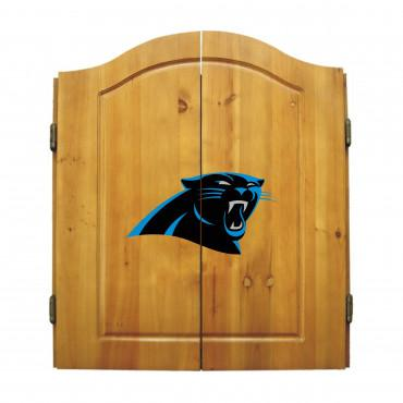 CAROLINA PANTHERS DART CABINET From Fan Cave Rugs