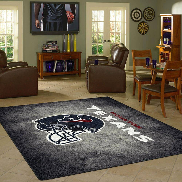 Houston Texans Rug Team Distressed From Fan Cave Rugs
