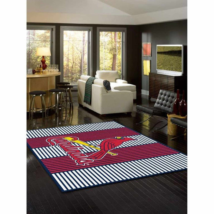 ST LOUIS CARDINALS 8X11 CHAMPION RUG From Fan Cave Rugs