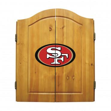 SAN FRANCISCO 49ERS DART CABINET From Fan Cave Rugs