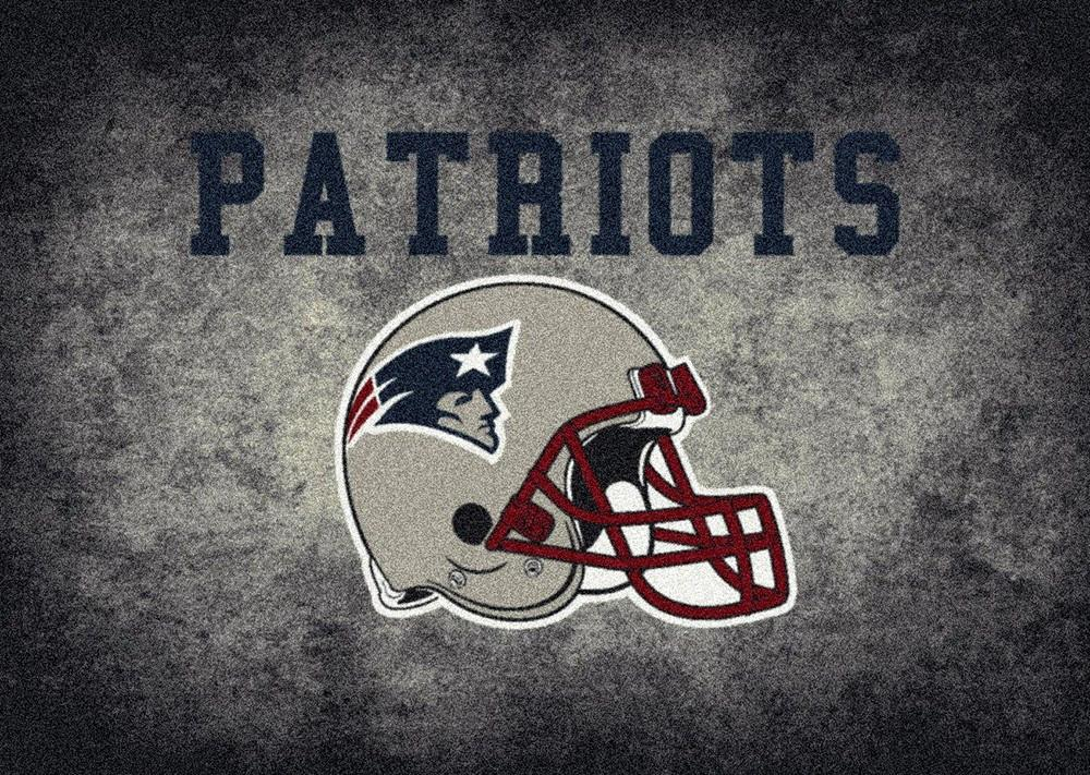 New England Patriots Rug Team Distressed