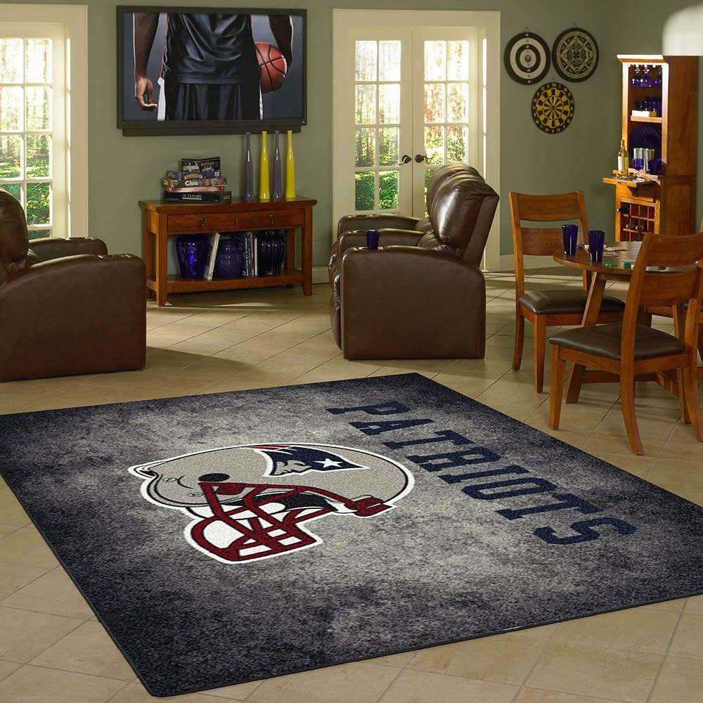 New England Patriots Rug Team Distressed Fan Cave Rugs