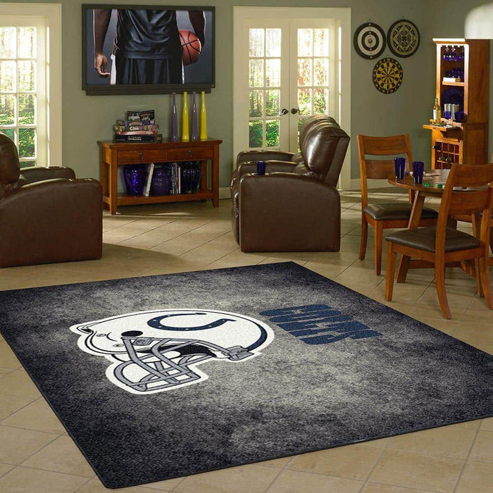 Indianapolis Colts Rug Team Distressed From Fan Cave Rugs