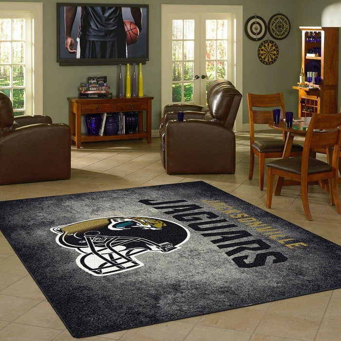 Jacksonville Jaguars Rugs Team Distressed From Fan Cave Rugs