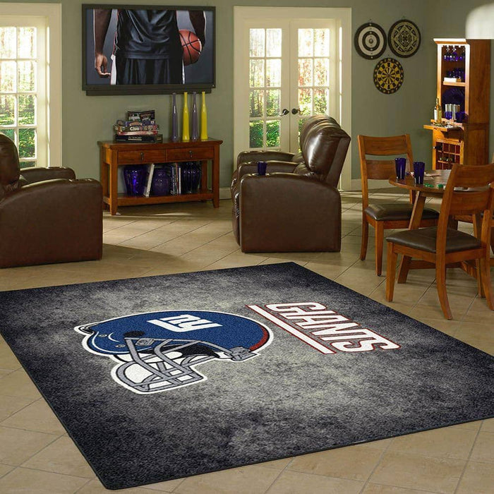 New York GiantsTeam Distressed Rug From Fan Cave Rugs