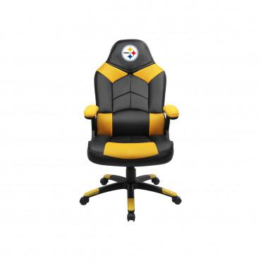 PITTSBURGH STEELERS OVERSIZED GAMING CHAIR From Fan Cave Rugs