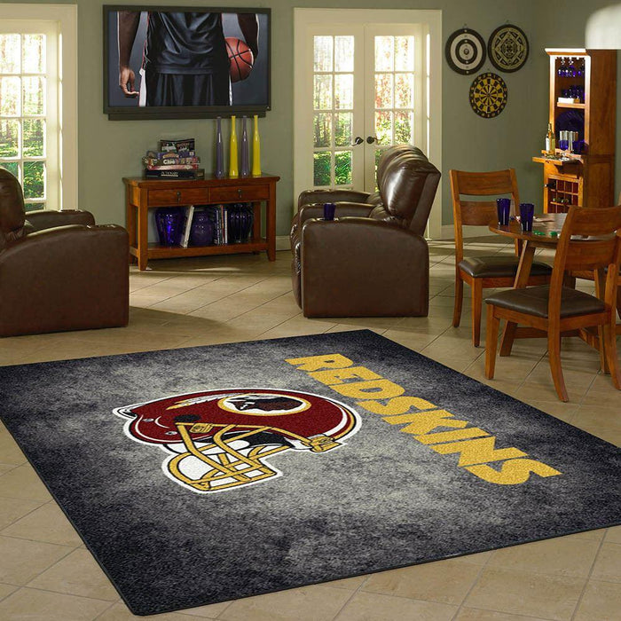 Washington Redskins Rug Team Distressed
