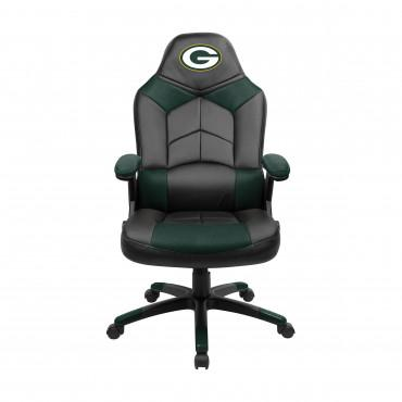 GREEN BAY PACKERS OVERSIZED GAMING CHAIR From Fan Cave Rugs