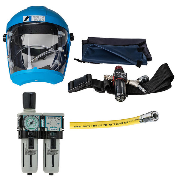 Airfed Mask Kit with Hose & 2 Stage Filter