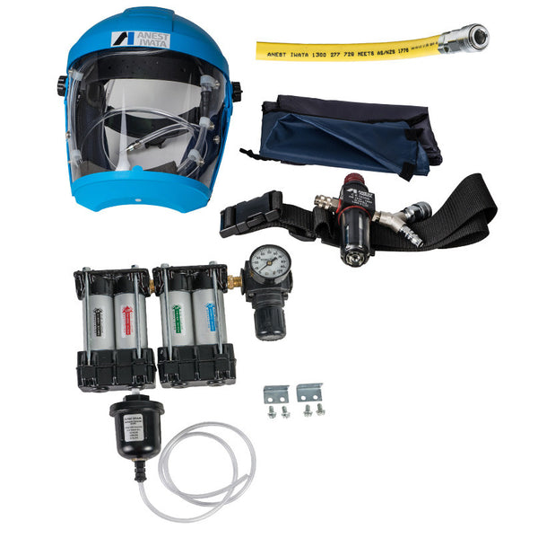 Anest Iwata Airfed Mask Kit with Hose & 4 Stage Filter
