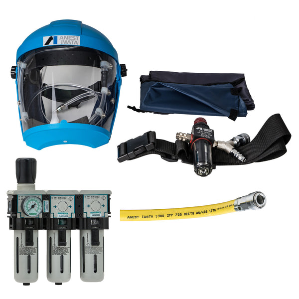 Airfed Mask Kit with Hose & 3 Stage Filter