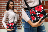 Floral Bucket Ankara Crossbody Purse
