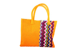 Orange Beaded Bag