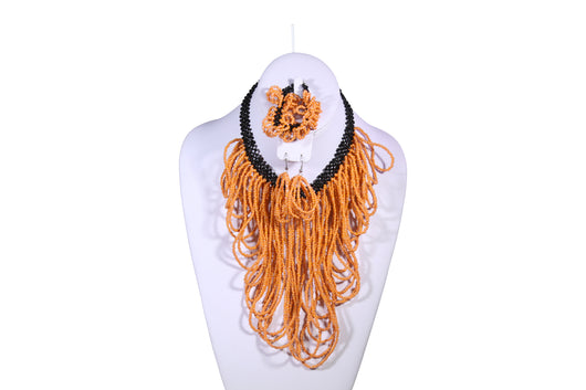 Multi-Looped Beaded Necklace - MORE COLORS