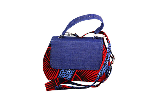 Red Shell Ankara Curve Bag