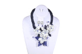 Beaded Necklace with Flower - MORE COLORS