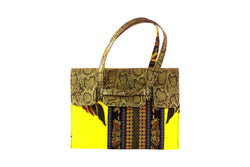 Bloom Ankara Bag Leather Flap - MORE COLORS