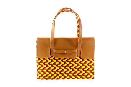 Scales Ankara Bag Leather Flap - MORE COLORS