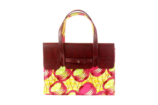 Loops Ankara Leather Flap Bag