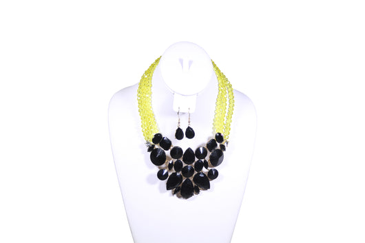 Lemon-Green Beaded Necklace