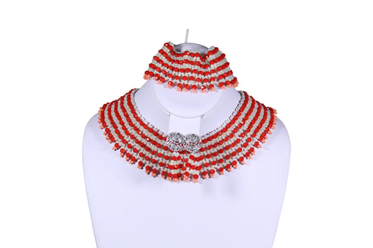 Fishnet Beaded Necklace - MORE COLORS