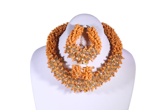 Nma Shiny Beaded Necklace