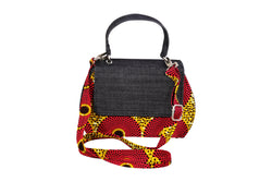 Red Bull-Eye Ankara Curve Bag