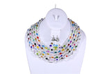 Circle Loop Bead Necklace - MORE COLORS