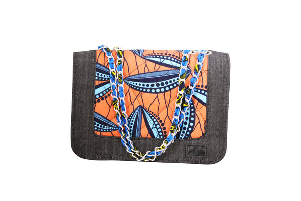 Peas Pond Ankara Quilted Bag
