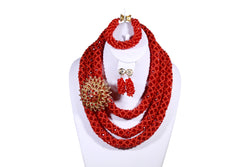 Red Rose Net Necklace