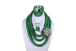 Green Rose Net Necklace