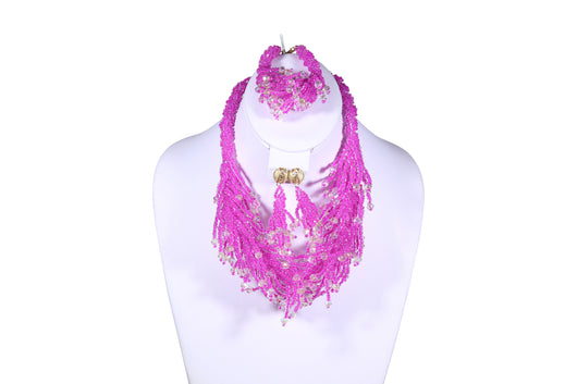 Shredded Beaded Necklace - MORE COLORS