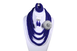 Blue Rose Net Necklace - MORE COLORS