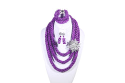 Purple Rose Net Necklace