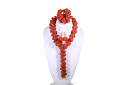 Adaure Coral Beaded Necklace