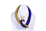 Twist Two-Toned Beaded Necklace - MORE COLORS