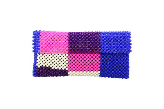 Purple Top Beaded Wallet
