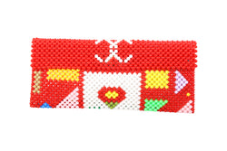 Beaded Wallet Cherry